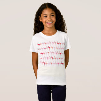 Cute Flamingo Pattern Kids T-shirt