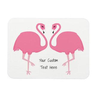 Cute Flamingos custom text magnet