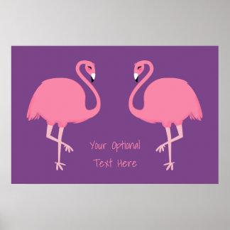 Cute Flamingos custom text poster