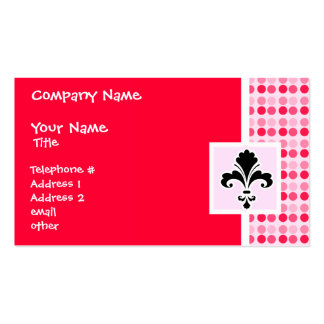 Cute Fleur de lis Business Card Template