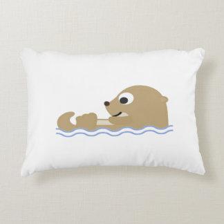 Cute Floating Otter Decorative Cushion