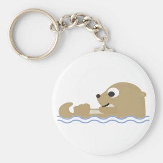 Cute Floating Otter Key Ring