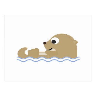 Cute Floating Otter Postcard