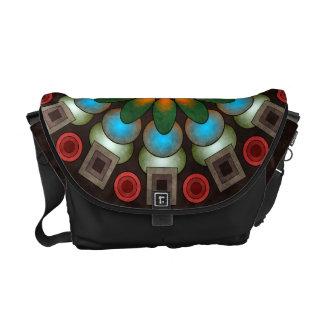 Cute Floral Abstract Vector Art Messenger Bag
