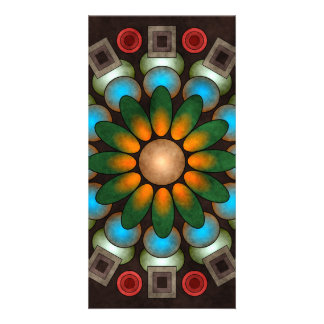 Cute Floral Abstract Vector Art Photo Card