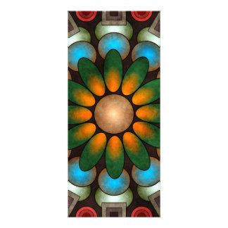 Cute Floral Abstract Vector Art Rack Card