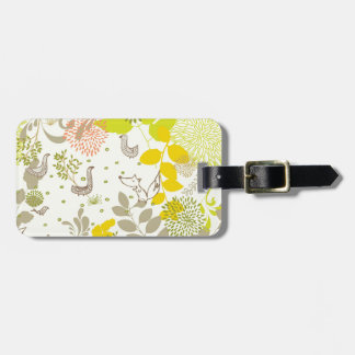 cute floral animals bag tag