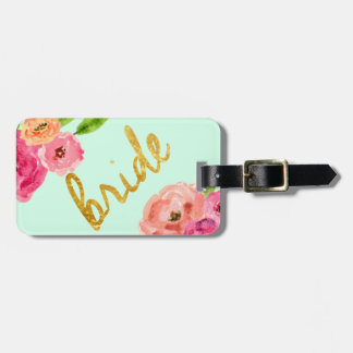Cute Floral Bride Travel Luggage Tag Gift