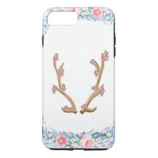 Cute Floral Elk Antler Phone Case