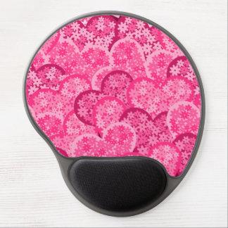 Cute floral hearts in pink gel mousepad