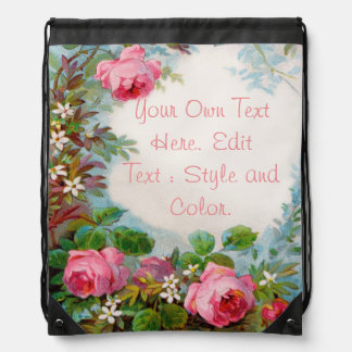 Cute floral personalised bagpacker drawstring bag