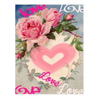 cute floral post card,love postcard
