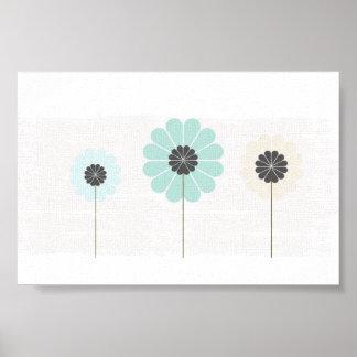 Cute Floral Wedding Baby Nursery Poster
