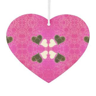 Cute Florescent Pink Heart Abstract Car Air Freshener
