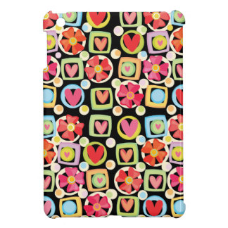 Cute Flower and Heart Pattern Case For The iPad Mini