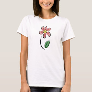 Cute flower cartoon floral sketch doodle T-Shirt