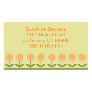 Cute Flower Daycare Business Card