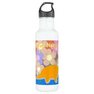 Cute Flower Dinosaur Bottle 710 Ml Water Bottle