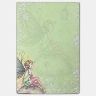 Cute Flower Fairy Art Post-it Notes
