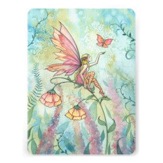 Cute Flower Fairy Birthday Party Invite