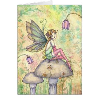 Cute Flower Fairy Card by Molly Harrison