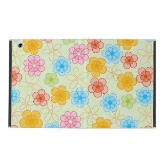 Cute Flower Pattern iPad Folio Case