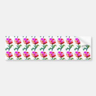 CUTE Flower Show Decoration Graphics Bumper Sticker