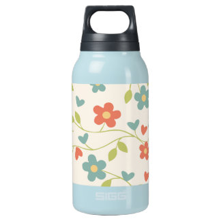Cute flowers and vines hot and cold drink bottle
