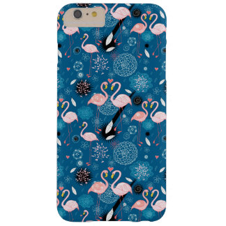 Cute flowers flamingos pattern barely there iPhone 6 plus case