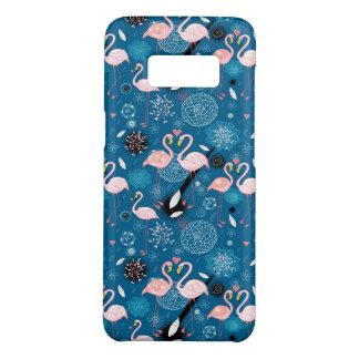 Cute flowers flamingos pattern Case-Mate samsung galaxy s8 case