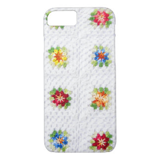 Cute Flowers Plaid iPhone 7 Case