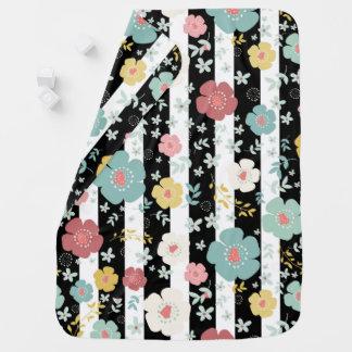 Cute Flowers & Stripes Baby Blanket