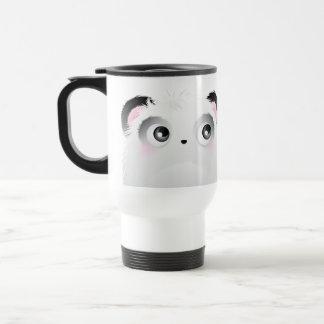 Cute Fluffy Furry White Cartoon Panda Coffee Mugs