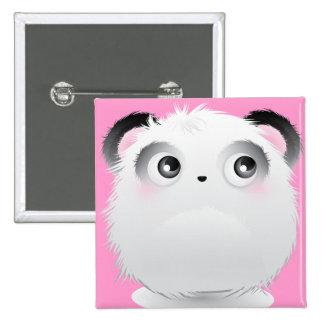 Cute Fluffy Furry White Cartoon Panda Pin