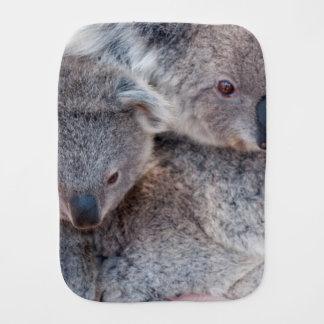 Cute Fluffy Grey Koalas Baby Burp Cloths
