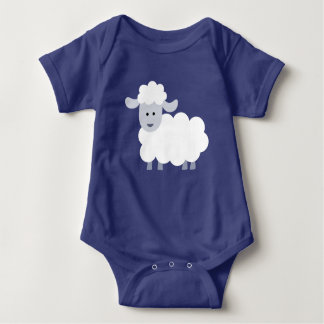 Cute Fluffy Lamb Baby Baby Bodysuit
