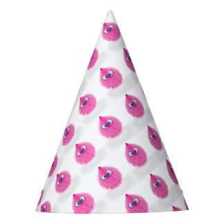 Cute Fluffy Pink Monster Party Hat