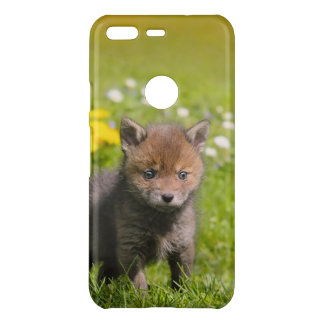 Cute Fluffy Red Fox Kit Cub Wild Baby Animal Photo Uncommon Google Pixel Case