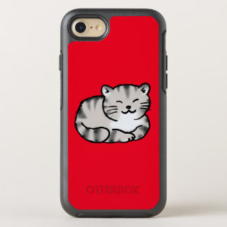 cute fluffy tabby gray tiger cat OtterBox symmetry iPhone 7 case