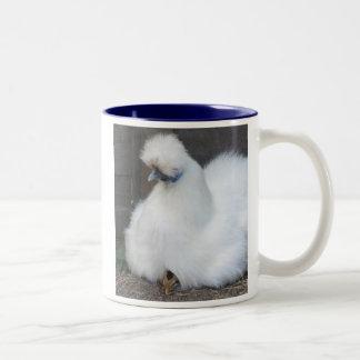 Cute Fluffy White Chicken and Chick mug