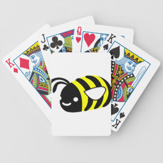 Cute flying bumblebee bicycle playing cards