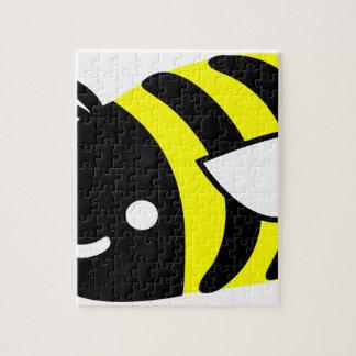 Cute flying bumblebee jigsaw puzzle