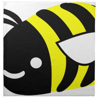 Cute flying bumblebee napkin