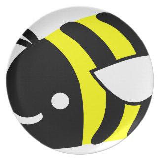 Cute flying bumblebee plate