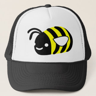 Cute flying bumblebee trucker hat