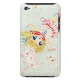 Cute flying chibi with kawaii bunny umbrella iPod Case-Mate cases