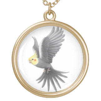 Cute Flying Cockatiel Parrot Necklace