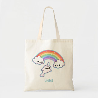 Cute Flying Narwhal Tote Bag