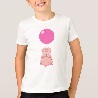 Cute Flying Pig and Balloon T-Shirt