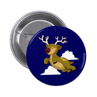 Cute Flying Reindeer Pins